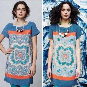 Anthropologie Meadow Rue Dress Large Boho Silk
